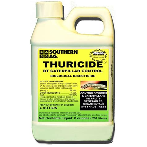 worm killer southern ag 8 oz thuricide bt caterpillar concentrate 100520028 the home depot
