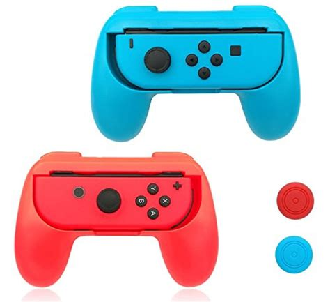 Original Nintendo Switch Con Controller Blue nintendo switch con grip controller kit with thumbstick ca