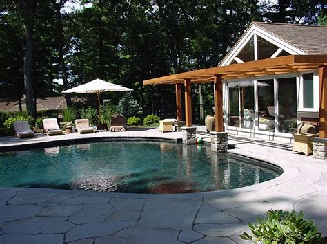 pool guest house custom home additions renovations guest house and pool concord ma