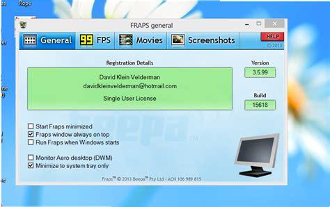 fraps full version download windows 8 fraps 3 5 99 full version akbar blog download software