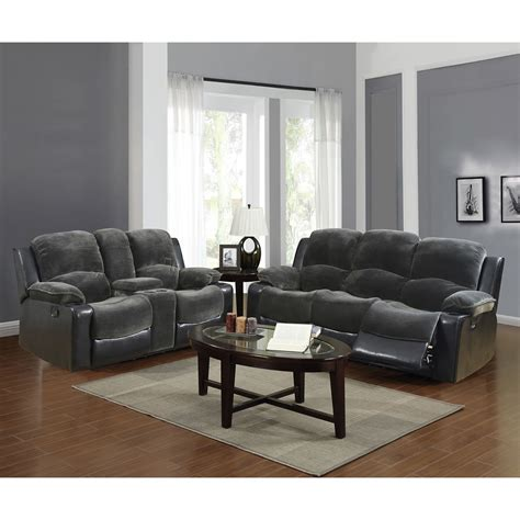 cassidy sofa set in gray black dcg stores