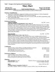 resume format for experienced professionals - Resumes For Experienced Professionals