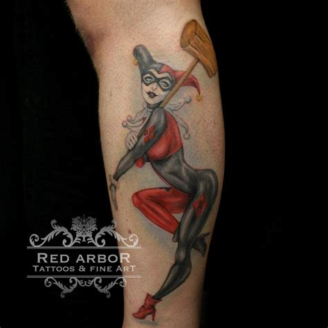 harley quinn pin up tattoo arbor tattoos tattoos feminine harley