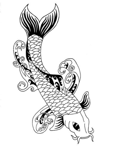 koi tribal tattoo tribal koi 2 by parttimemasochist on deviantart