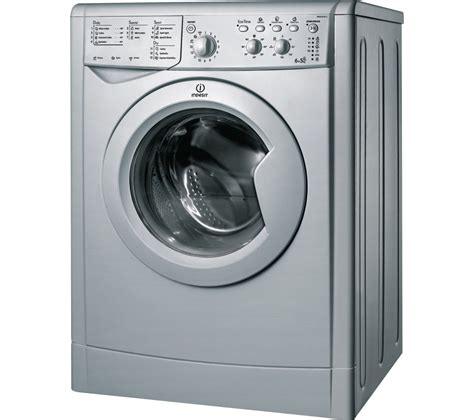 washer with buy indesit ecotime iwdc 6125s washer dryer silver