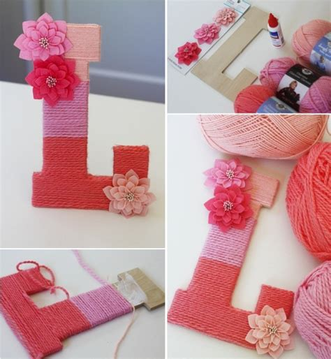yarn covered letters diy yarn wrapped letters home design garden