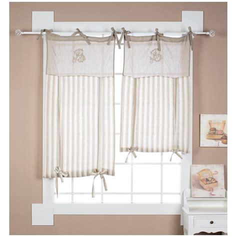 tende a pacchetto con mantovana tenda per finestra a pacchetto 60x120 cm lino cotone righe
