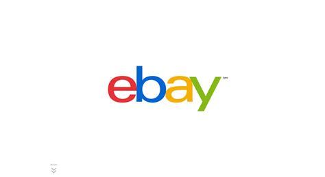 eBay New Logo Announcement   One Page Website Award