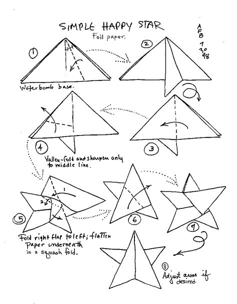 printable origami star instructions origami instruction happy star web wanderers