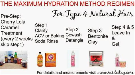 hydration for hair the maximum hydration method for 4c hair hair