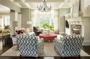 Patterned Chairs Living Room Design Ideas Living Room Awesome Modern Traditional Living Room