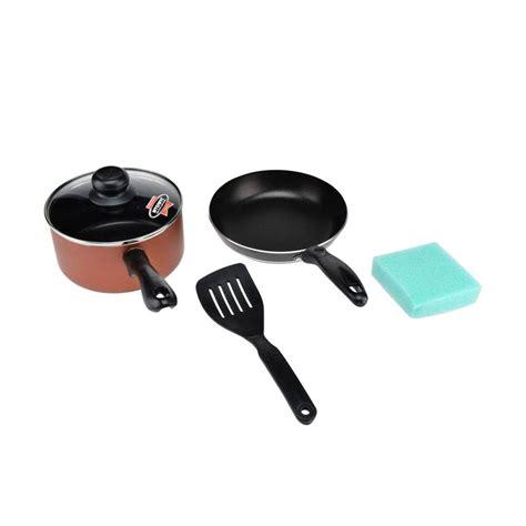 Teflon Satu Set jual maxim venice wajan set peralatan masak harga