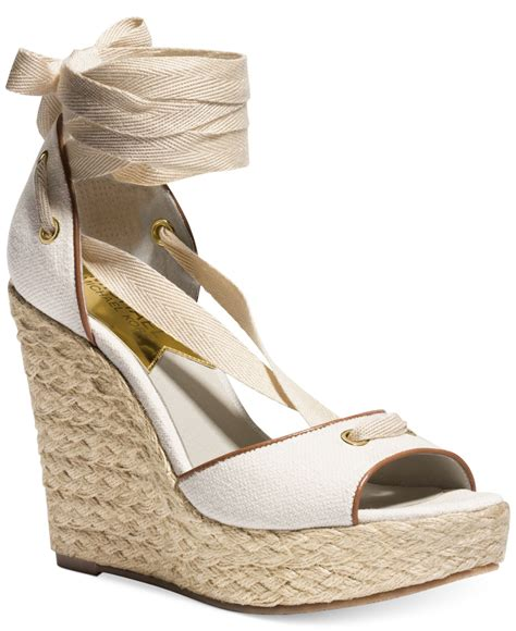 michael kors michael lilah platform wedge sandals in