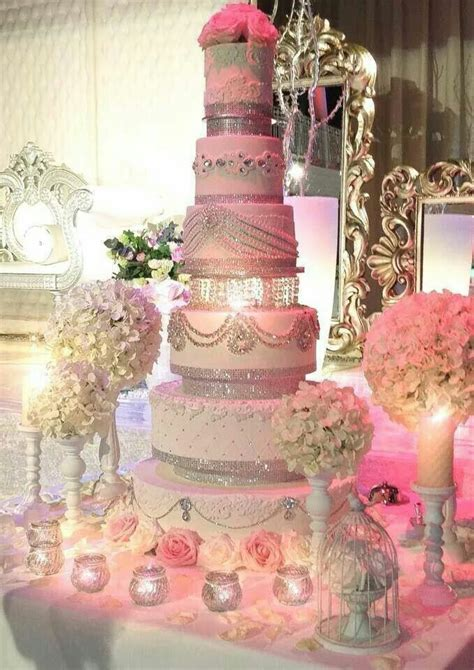 Wedding Cake; Pink with lots of bling???   Classy Weddings