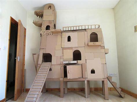 diy cardboard cat house this kitty lover built spacious diy cathouse from cardboard