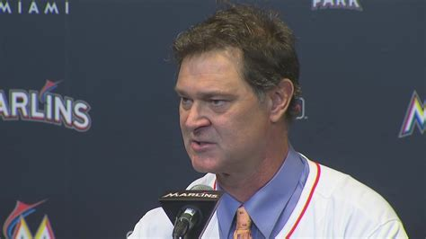 Don Mattingly Press Conference by Mattingly Adopts No Hair Policy For Marlins
