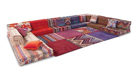 divani missoni composition missoni home mah jong roche bobois