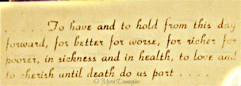 Wedding Vows In Sickness by In Sickness And In Health The Last Boarding Call