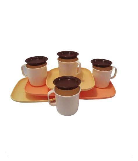 Coffee Mug Tupperware tupperware luxury coffee mugs with luncheon plates set of 4 buy at best price in india