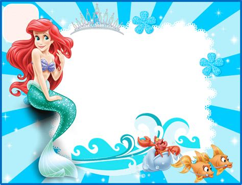 printable birthday invitations little mermaid the little mermaid free printable invitations cards or