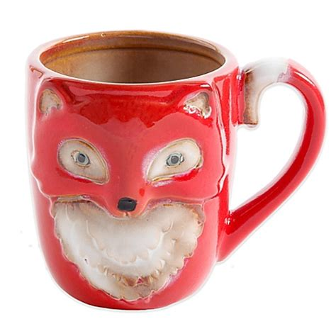 fox mug figural fox mug in rust bed bath beyond