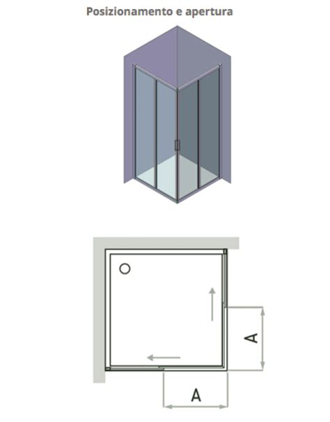pareti doccia scorrevoli la veneta termosanitaria s r l box doccia 2 pareti