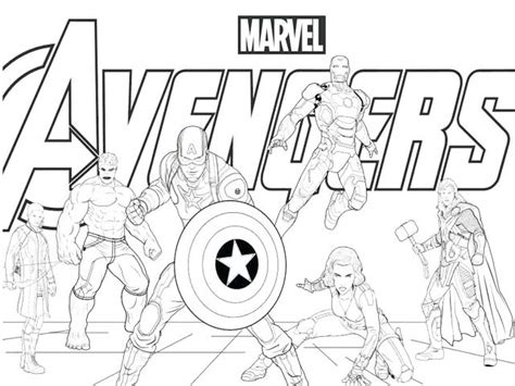 marvels avengers heros coloring pages  kids