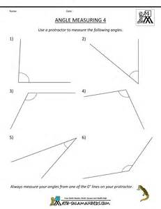 measuring angles worksheets for 4th grade