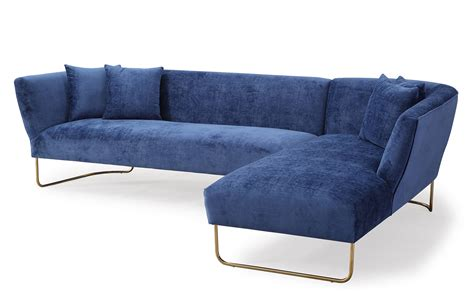 Raf Sofa Sectional Tov Furniture Caprice Raf Sectional Sofa Navy L6101 At Homelement