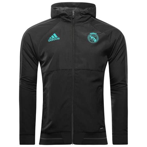 Jaket Windcheater Black Real Madrid real madrid jacket presentation black www unisportstore