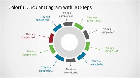 4 step circular growth diagram for powerpoint slidemodel 10 step colorful circular diagram for powerpoint slidemodel