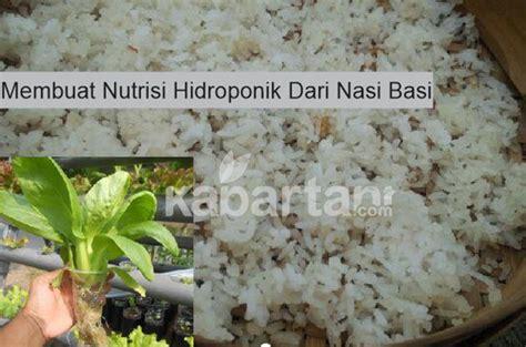 cara membuat nutrisi hidroponik sendri bpp kecamatan tiris kabupaten probolinggo cara membuat