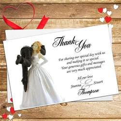 10 personalised and groom humour wedding thank you cards n3