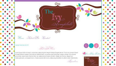 blog templates for teachers birds pink cute ivy bd web