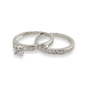 simple channel set cz wedding ring set s addiction 174