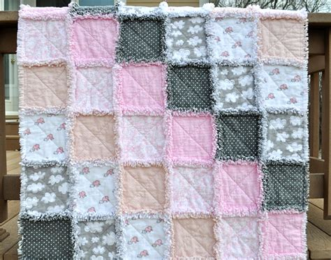 Flannel Rag Baby Quilt by Chandeliers Pendant Lights
