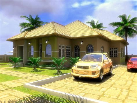 4 Bedroom Bungalow Design Residential Homes And Designs 4 Bedroom Bungalow