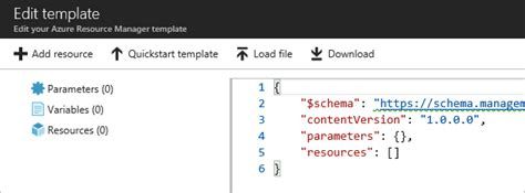Use Azure Portal To Deploy Azure Resources Microsoft Docs Azure Quickstart Templates