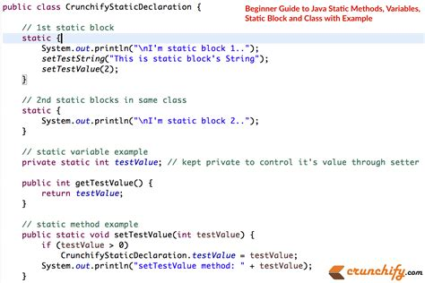 Tutorial Java Method | fundamentals of java static methods and variables crunchify