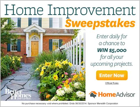 home improvement sweepstakes adchoices