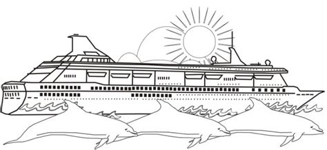 free coloring pages of cruise ship