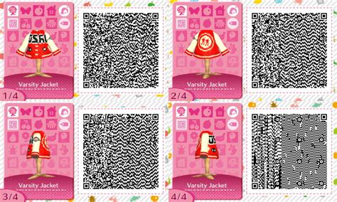 animal crossing new leaf qr codes amy rose qr code varsity jacket splatoon by ousatsuzansatsu on