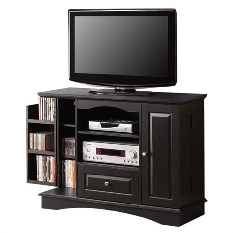 bedroom tv stands walker edison 42 quot bedroom console w media storage black tv