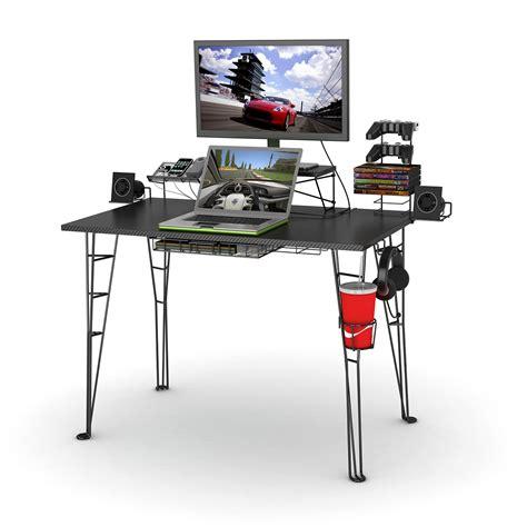 atlantic furniture gaming desk black carbon fiber gaming desk work surfaces