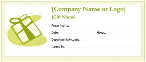 Custom Gift Certificate Templates For Microsoft Word Gift Card Template Word