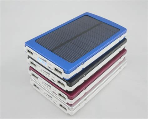 Power Bank Solar portable power banks with solar cellphone solar power bank