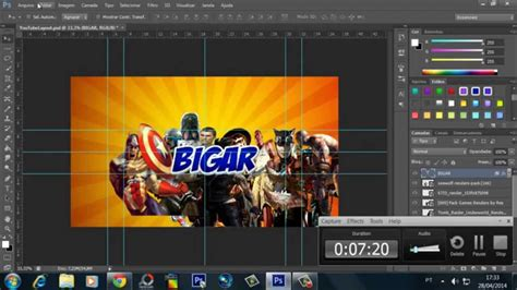 layout youtube photoshop cs6 tutorial como fazer banner capa layout youtube 2014 15
