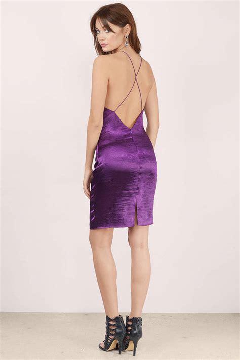 Plum Dress Satin Dress Metallic Plum Dress Bodycon