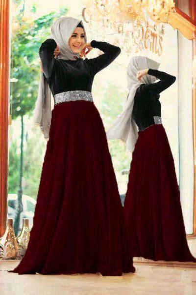 Gamis Longdress Terusan Panjang Muslim Andrea Dress baju gamis modern mix satin model dress remaja terbaru