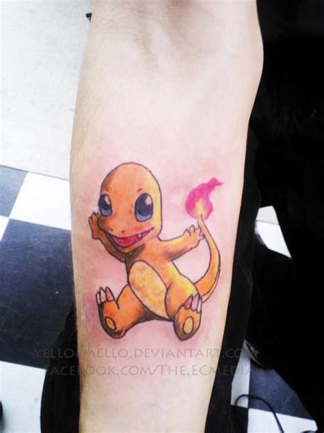 charmander tattoo charmander on foot by ella trick
